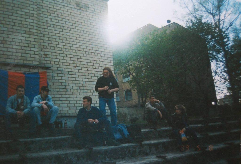Akimirka iš pirmosios išvykos į Vilnių. 1999-05-08